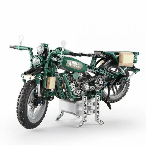 CADA Baustein RC Militär Motorrad WWII mit Fernsteuerung