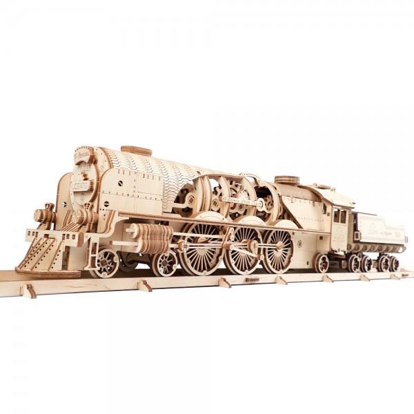 UGEARS 3D Holzpuzzle V-Express Dampflokomotive 538 Teile