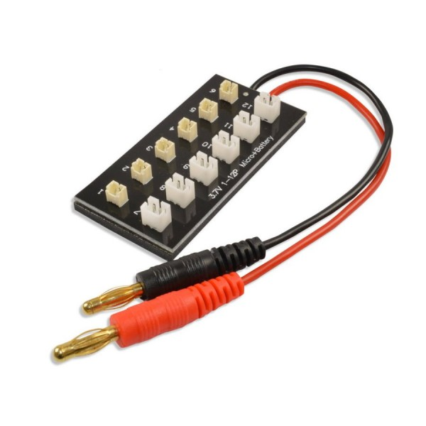 Paralell Ladeboard 6 Fach 1s 3,7V Lipo Akku MCPX MSR MCX KYOSHO Nano CPX UMX MQX