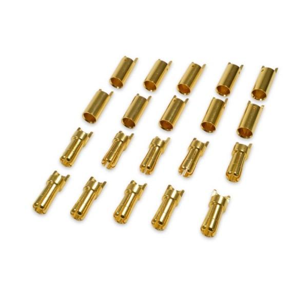 Amass 5,5mm Goldkontaktstecker Goldstecker Hochstromfähig Lipo Akku 10 Paar