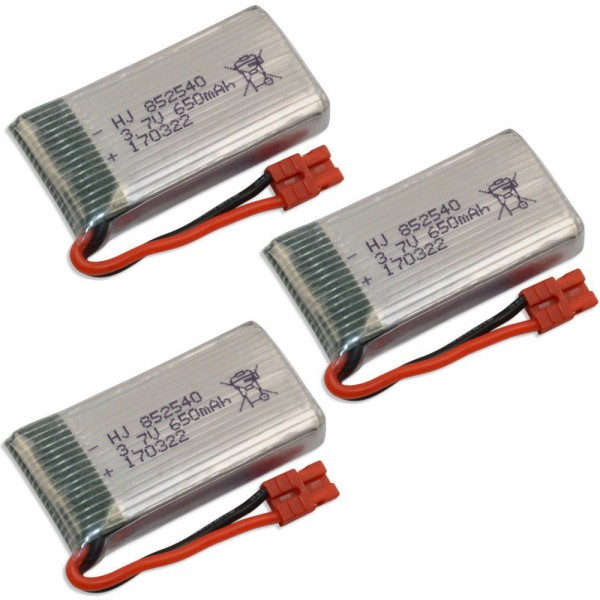 Lipo Akku 650mAh 1S 3,7 V 20C Syma X5 3er Pack