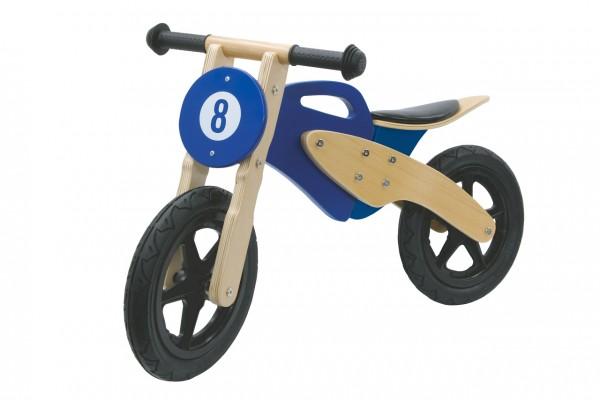 Jamara Laufrad Holz Moto blau