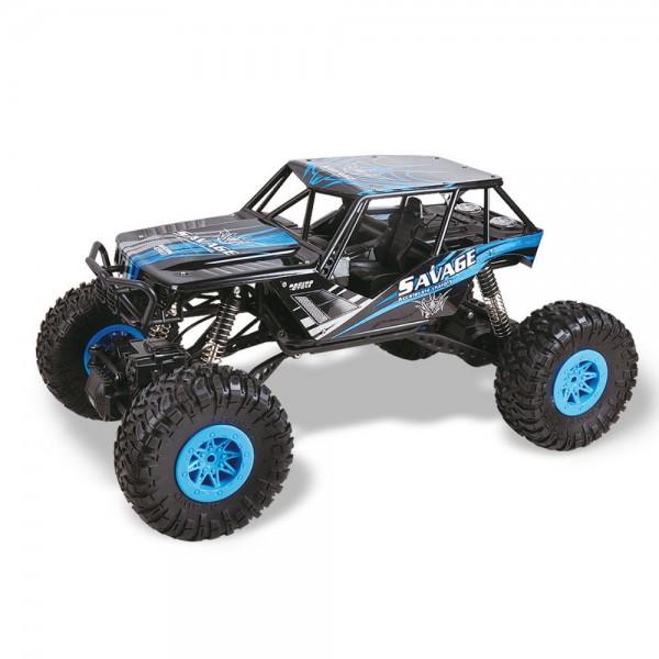 Amewi Climb Nation Rock Crawler 1:10 4WD 2,4GHz blau inkl. Akku & Ladegerät