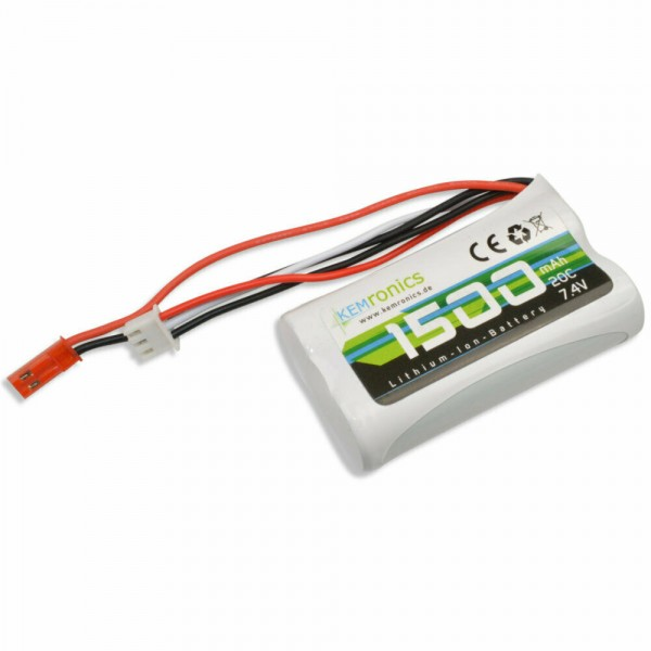 Li-Ion Akku 7.4V 1500mAh RC Helikopter Revell Big One Amewi Skyrider Double Horse