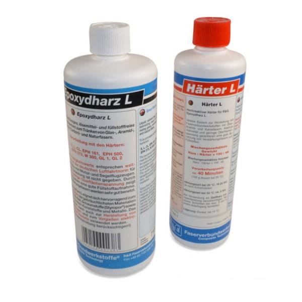 R&G 1Kg 40-Minuten-Epoxy - 715g Epoxidharz L + 285g Epoxidhärter L