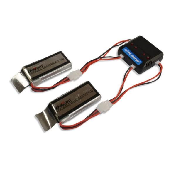 2- fach USB Ladegerät für Lipo Akku FPV Drohne Udi U818A