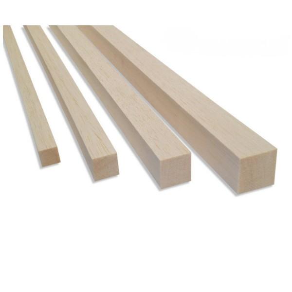 Balsa Vierkant-Kantholz 1000mm in versch. Größen