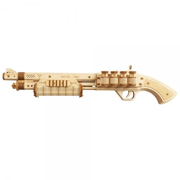 Robotime 3D Holzpuzzle Terminator M870 Shotgun 170 Teile