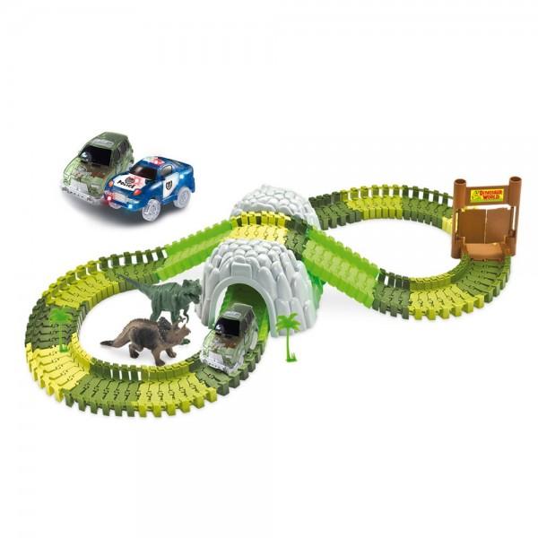 Magic Traxx Kinder Rennbahn Dino Park 374 teilig inkl. Tunnel