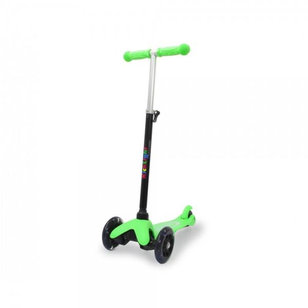 Jamara KickLight Scooter mit LED Räder grün