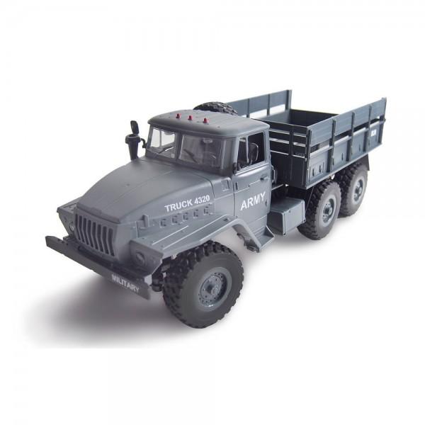 Amewi Ural 4320 Militär Truck grau 6WD 1:16 RTR inkl. Akku & USB Ladekabel