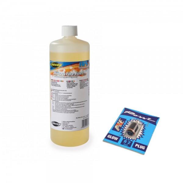 Carson Bio Nitro-Fire 16%/1L Kraftstoff & Rossi R2 Bundle