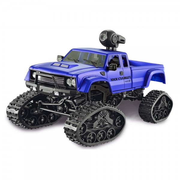Amewi FPV Pickup Truck Crawler Rädern & Ketten 4WD 1:16 blau WiFi Kamera