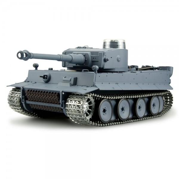 Amewi Panzer Tiger I Rauch & Sound Metallketten 1:16 2,4GHz Schußfunktion Holzkiste