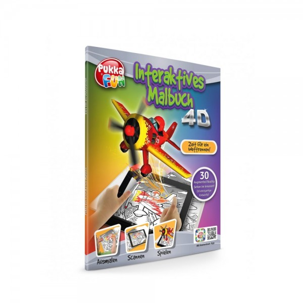 Pukka Fun Malbuch 4D Zeit für ein Wettrennen