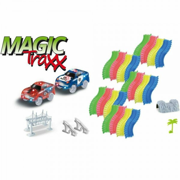Magic Traxx Kinder Rennbahn 373 teilig inkl. Transportbox