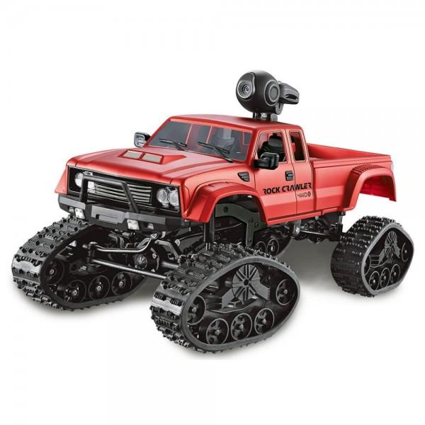 Amewi FPV Pickup Truck Crawler 1:16 Rädern & Ketten 4WD rot WiFi Kamera