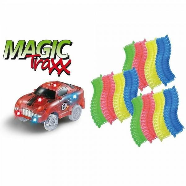 Magic Traxx Kinder Rennbahn 223 teilig inkl. Transportbox