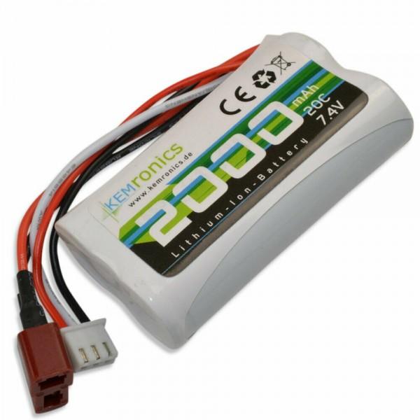 Kemronics Li-Ion Akku 7.4V 2000mAh Dean T-Plug