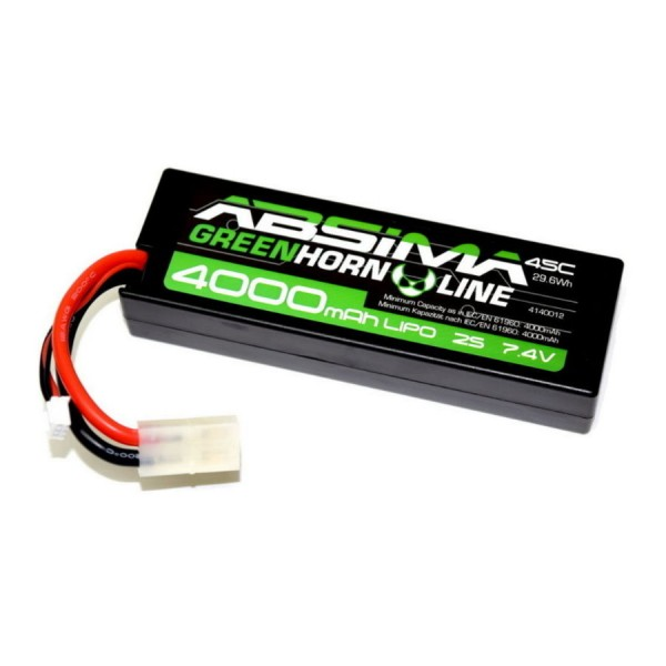 Absima Hardcase Lipo Akku 4000mAh 7.4V 45C