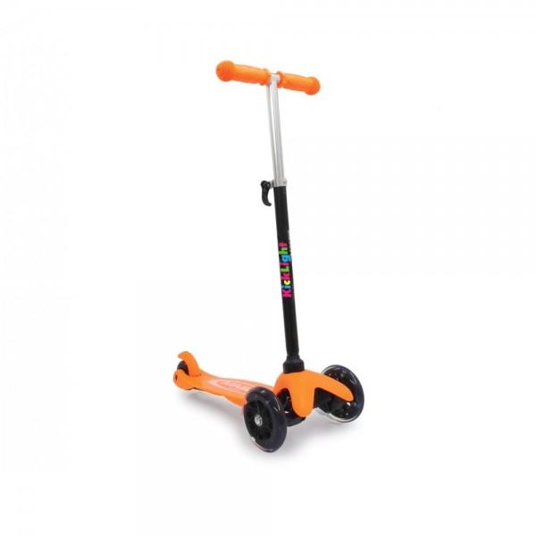Jamara KickLight Scooter mit LED Räder orange