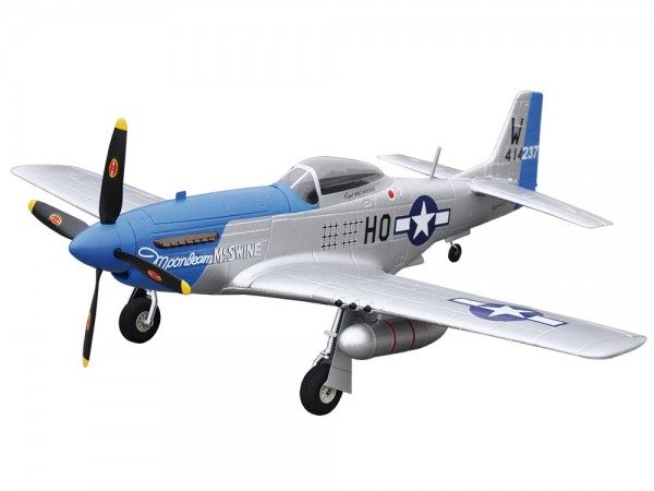 Amewi P-51D Mustang blue PNP 4 Kanal SW 75 cm