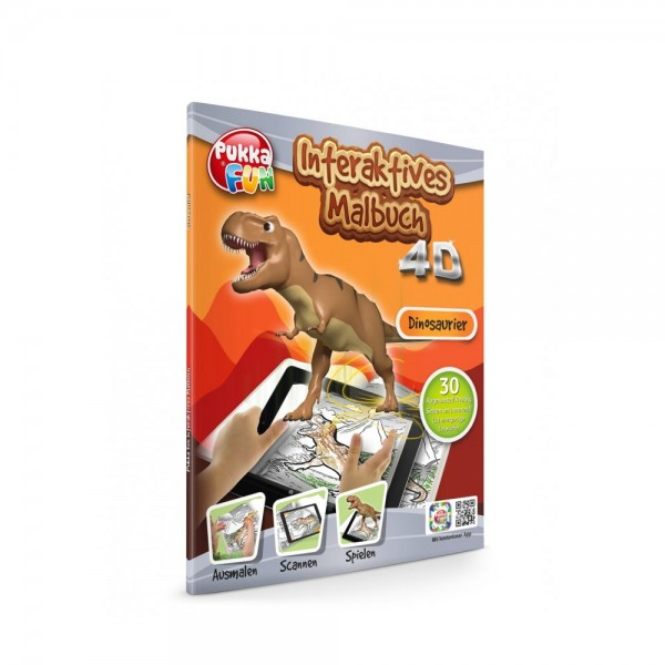 Pukka Fun Malbuch 4D Dinosaurier
