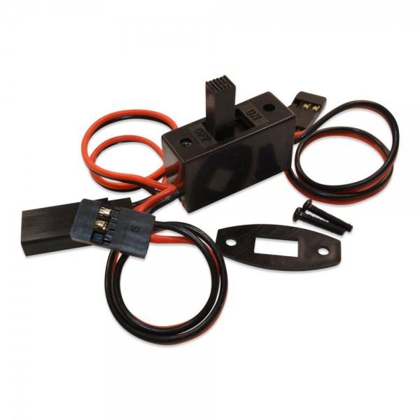Yuki Model Ein/On Aus/Off Schalter - Schalterkabel Futaba mit JR Ladeanschluss