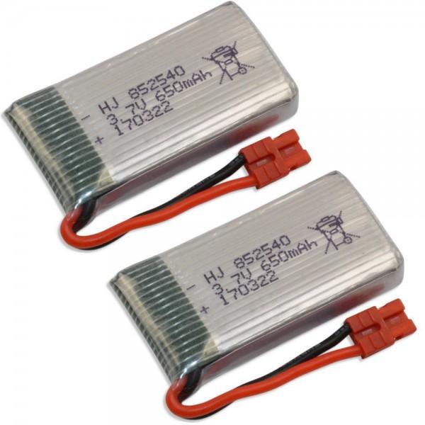 Lipo Akku 650mAh 1S 3,7 V 20C für Syma X5 HW HC WIFI Drohne 2er Pack