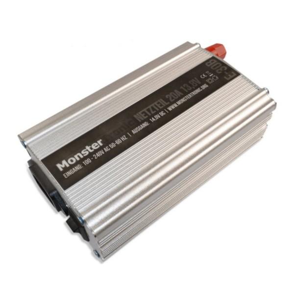 Monstertronic Netzteil 20A 12-13,8V 220V Silber E-30