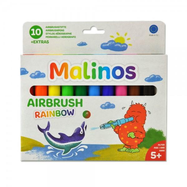 Malinos BloPens Rainbow 10 Stück Pustestifte im Set