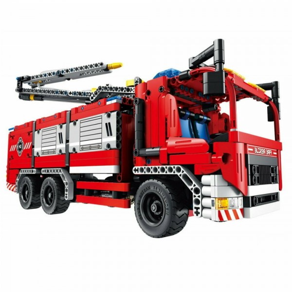 Qihui Mechanical Master Bausteinfahrzeug Feuerwehrauto 6805