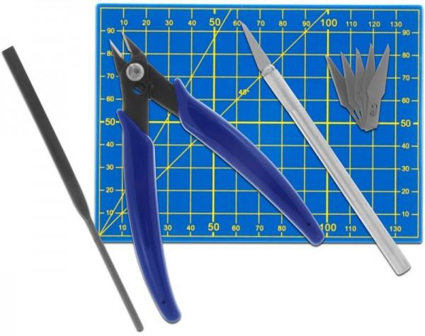 Donau Werkzeugset für Plastikmodellbau inkl. Präzisonsmesser, Skalpell, Zange MS09