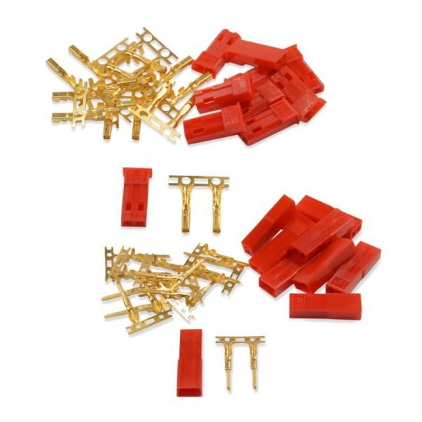 Amass JST - BEC Crimp Set Stecker u. Buchse vergoldet 7,4V Lipo Akku 10 Paar