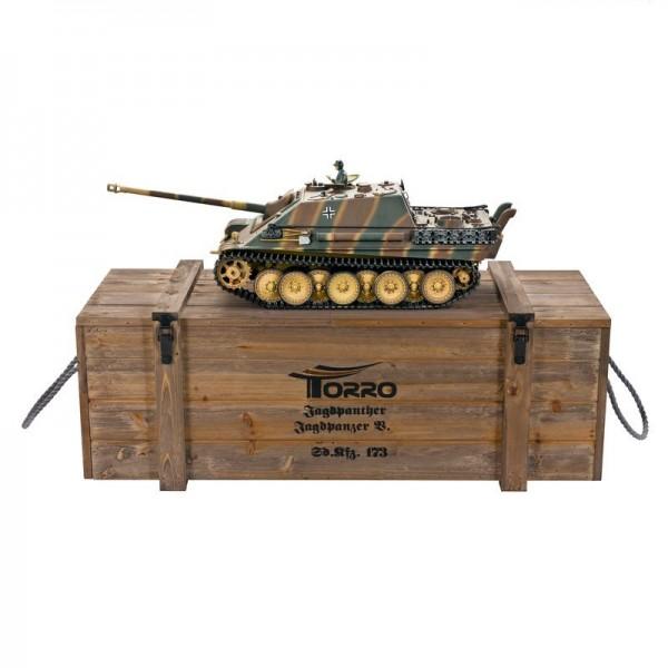 Torro Jagdpanther Profi Metallausführung BB Version Panzer mit Holzkiste