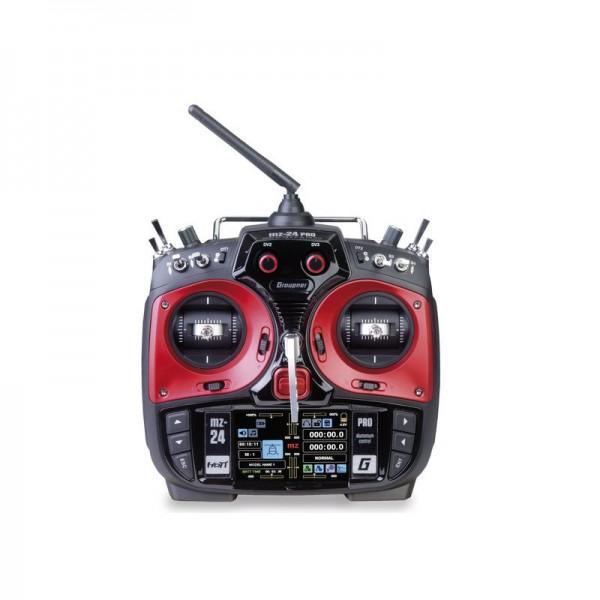 Graupner Fernsteuerung mz-24 PRO 12-Kanal & Empfänger GR-18 & micro-SD Card