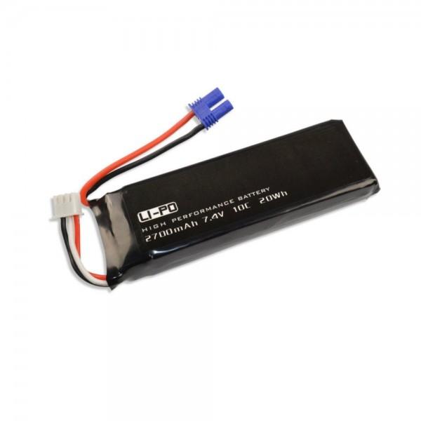 LiPo Akku x4 H501S 2700mAh 2S 7.4V für Hubsan