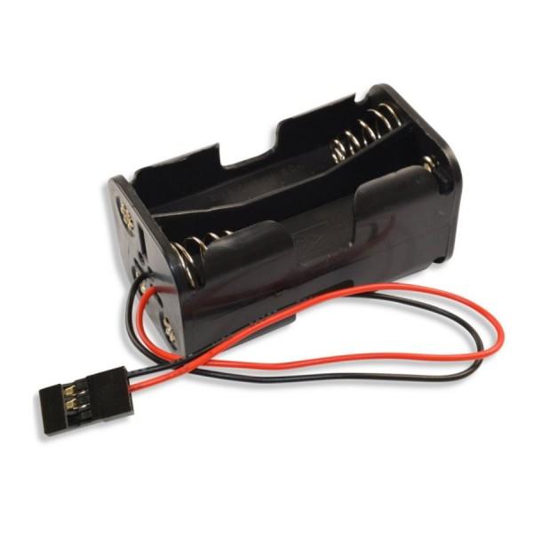 Empfänger Akku Batterie-Box 4x AA Batteriehalter Uni-Stecker JR Futaba