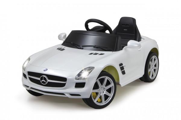 Jamara Ride-on Mercedes SLS AMG weiß 40MHz 6V