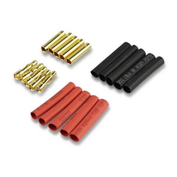 Amass 3,5mm Goldkontaktstecker Goldstecker + Schrumpfschlauch 10 Paar