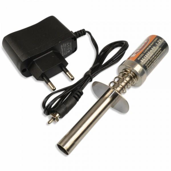 Glühkerzen-Starter für Verbrenner 1800mAh mit Ladegerät HSP