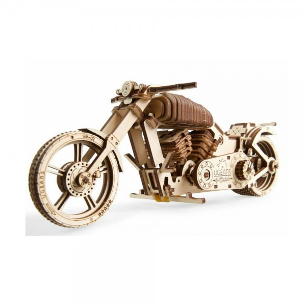 UGEARS 3D Holzpuzzle VM-02 Motorrad Harley Style 189 Teile