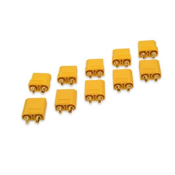 Amass XT90 Hochstrom Goldstecker Stecker + Buchse für Lipo Akku 5 Paar