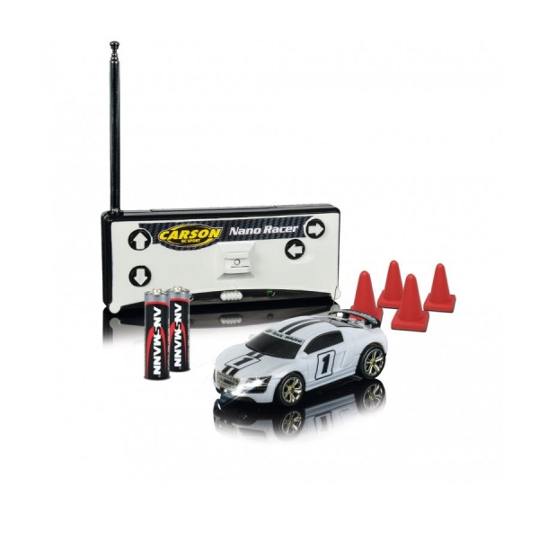 Carson 1:60 Nano Racer Toxic white MHz 100% RTR
