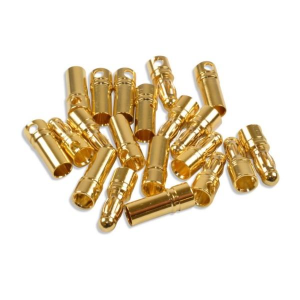 Goldkontaktstecker 3,5mm 10 Paar
