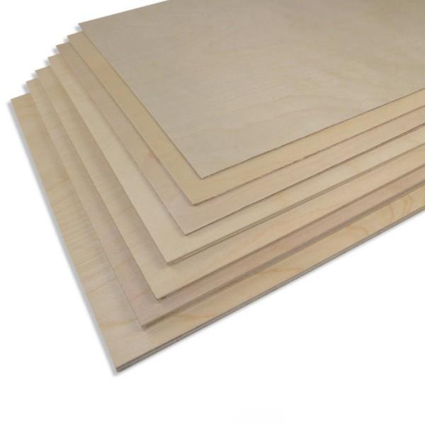 Birken-Sperrholz 300 x 500 mm versch. Größen 0,4mm bis 6,0mm